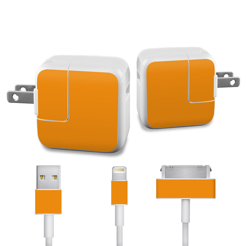 Solid State Orange iPad Power Adapter, Cable Skin