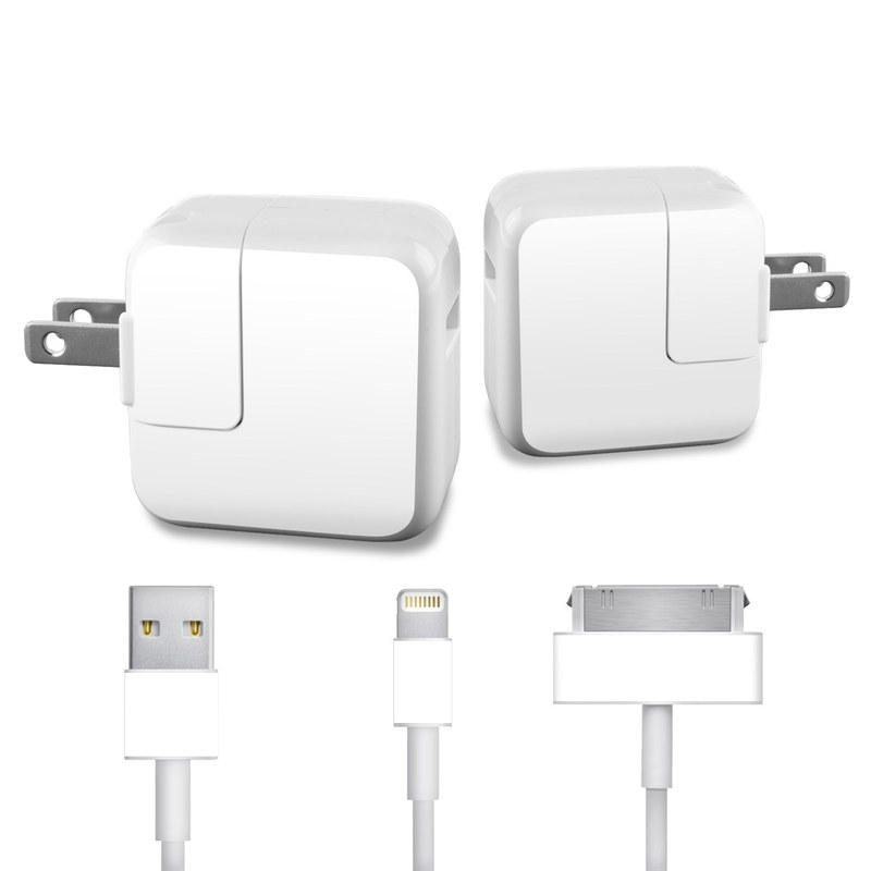 Solid State White iPad Power Adapter, Cable Skin