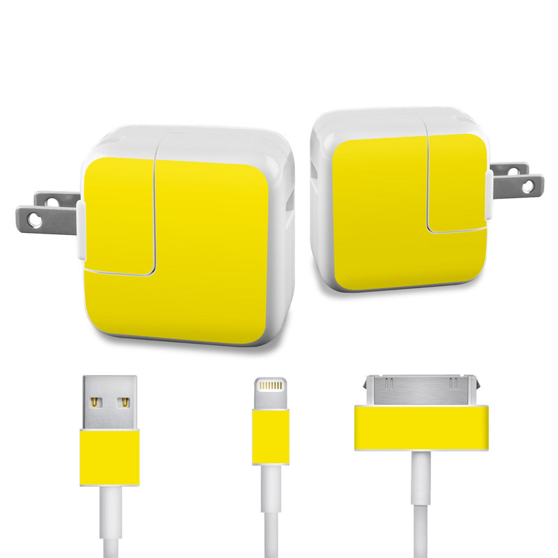 Solid State Yellow iPad Power Adapter, Cable Skin