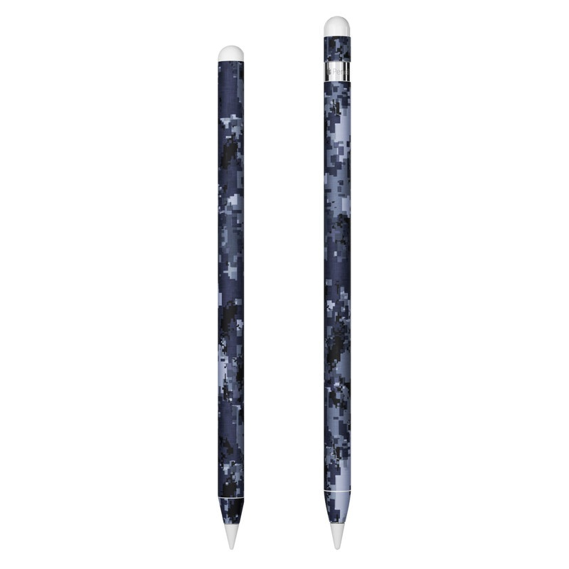 Apple Pencil Skin design of Military camouflage, Black, Pattern, Blue, Camouflage, Design, Uniform, Textile, Black-and-white, Space with black, gray, blue colors
