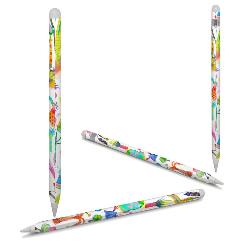 Apple Pencil Skin design of Pattern with white, yellow, green, blue, orange, pink, purple, brown, black colors