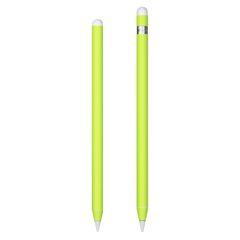 Apple Pencil Skin design of Green, Yellow, Text, Leaf, Font, Grass with green colors