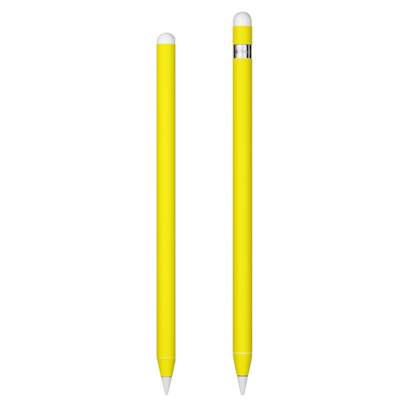 Apple Pencil Skin design of Green, Yellow, Orange, Text, Font with yellow colors