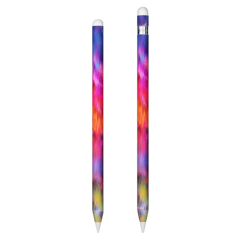 Apple Pencil Skin design of Sky, Purple, Pink, Blue, Violet, Painting, Watercolor paint, Lavender, Cloud, Art with red, blue, purple, orange, green colors