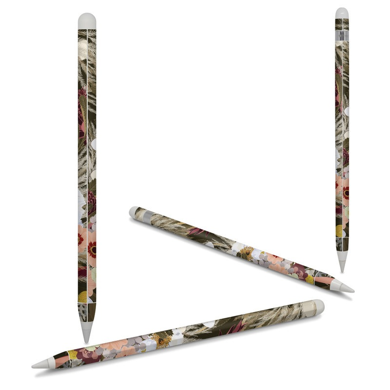 Apple Pencil Skin design of Floral design, Flower Arranging, Floristry, Flower, Plant, Bouquet, Cut flowers, Textile, Design, Pattern with green, white, purple, pink, red, yellow, gray colors