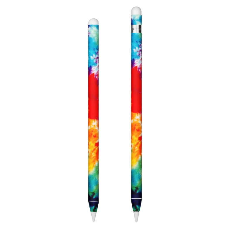 Apple Pencil 2nd Gen Skin design of Orange, Watercolor paint, Sky, Dye, Acrylic paint, Colorfulness, Geological phenomenon, Art, Painting, Organism with red, orange, blue, green, yellow, purple colors