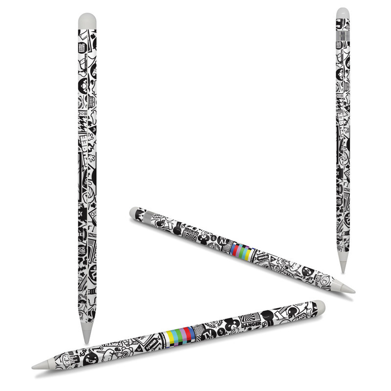 Apple Pencil Skin design of Pattern, Drawing, Doodle, Design, Visual arts, Font, Black-and-white, Monochrome, Illustration, Art with gray, black, white colors