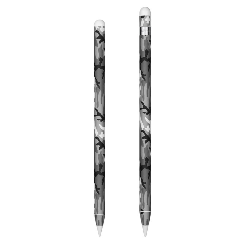 Apple Pencil Skin design of Military camouflage, Pattern, Clothing, Camouflage, Uniform, Design, Textile with black, gray colors