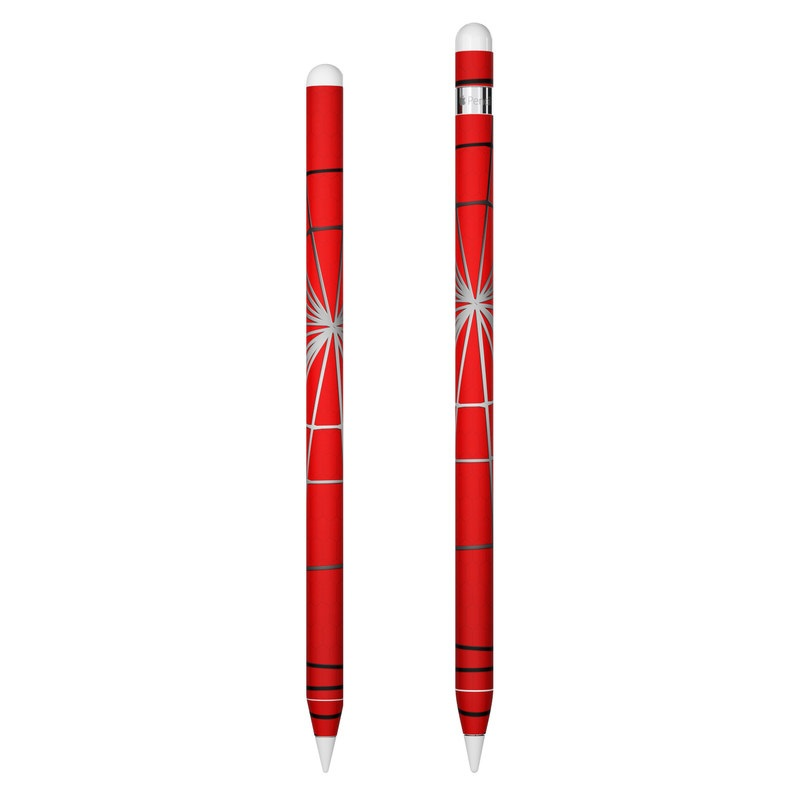 Apple Pencil Skin design of Red, Symmetry, Circle, Pattern, Line with red, black, gray colors