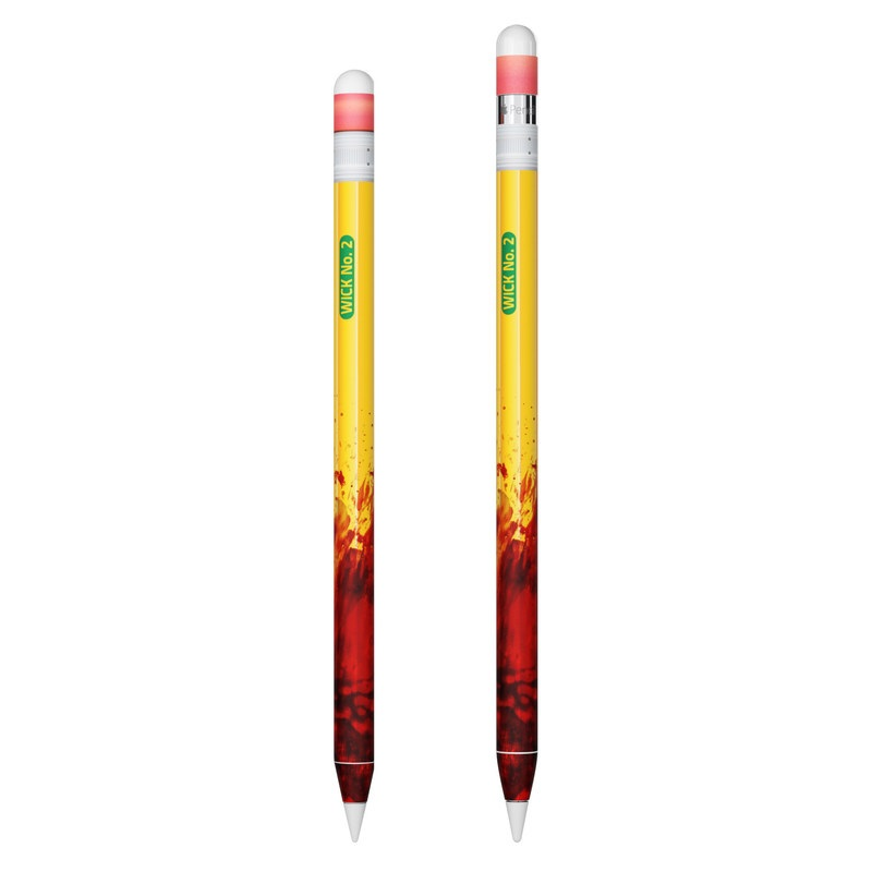 Apple Pencil Skin design with yellow, red, green colors
