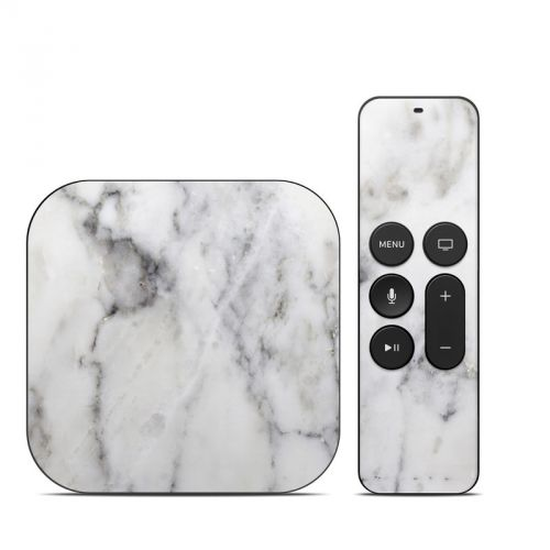 White Marble Apple TV 4th Gen Skin