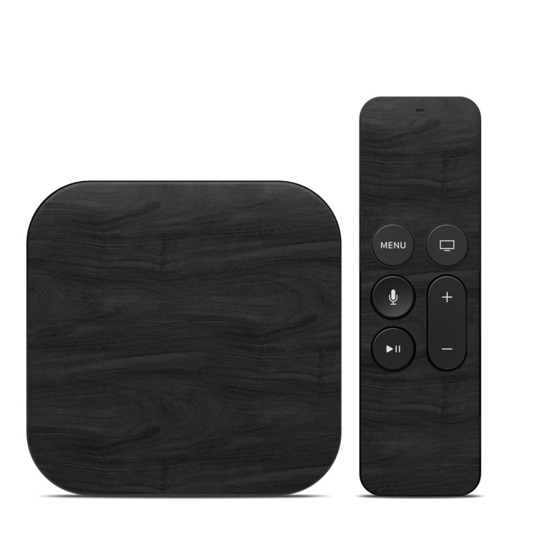 Black Woodgrain Apple TV 4th Gen Skin