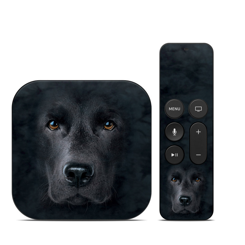Apple TV 4th, 5th Gen Skin design of Vertebrate, Mammal, Dog, Canidae, Dog breed, Nose, Snout, Carnivore, Eye, Sporting Group with black, gray, orange colors
