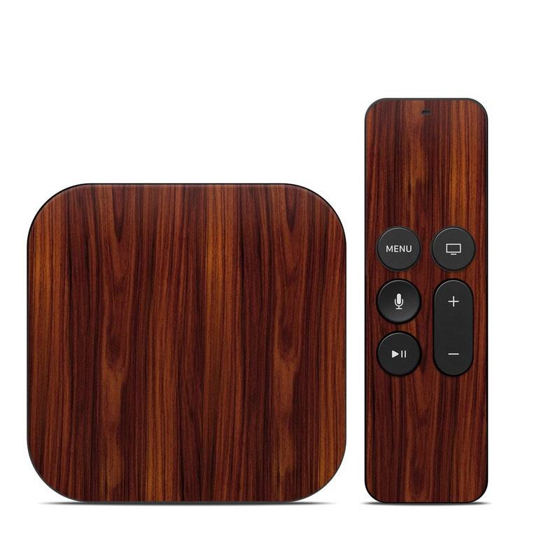 Dark Rosewood Apple TV 4th Gen Skin