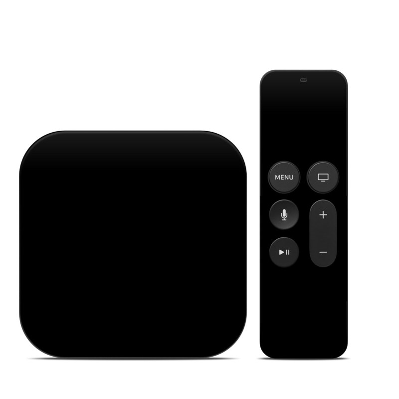 Apple TV 4th Gen Skin design of Black, Darkness, White, Sky, Light, Red, Text, Brown, Font, Atmosphere with black colors