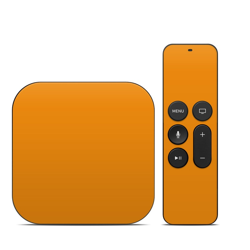 Apple TV 4th Gen Skin design of Orange, Yellow, Brown, Text, Amber, Font, Peach with orange colors
