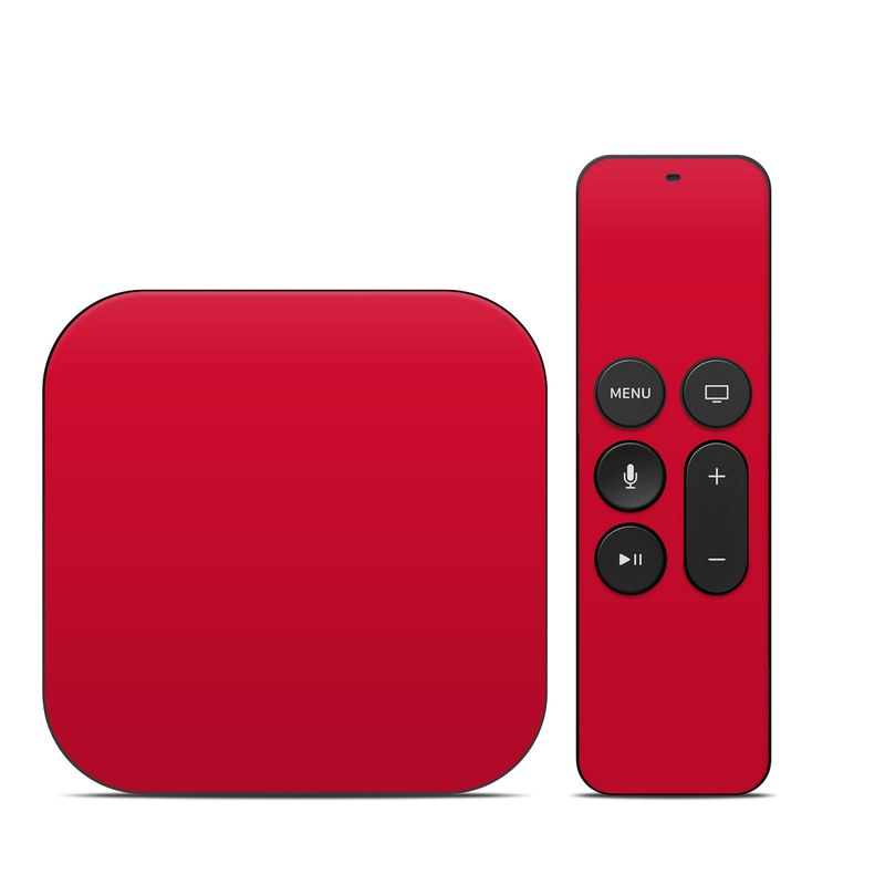 Solid State Red Apple TV 4th Gen Skin