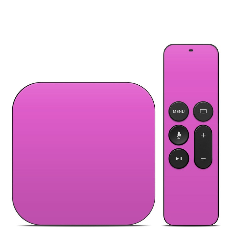 Apple TV 4th, 5th Gen Skin design of Violet, Pink, Purple, Red, Lilac, Magenta, Blue, Lavender, Text, Sky with pink colors