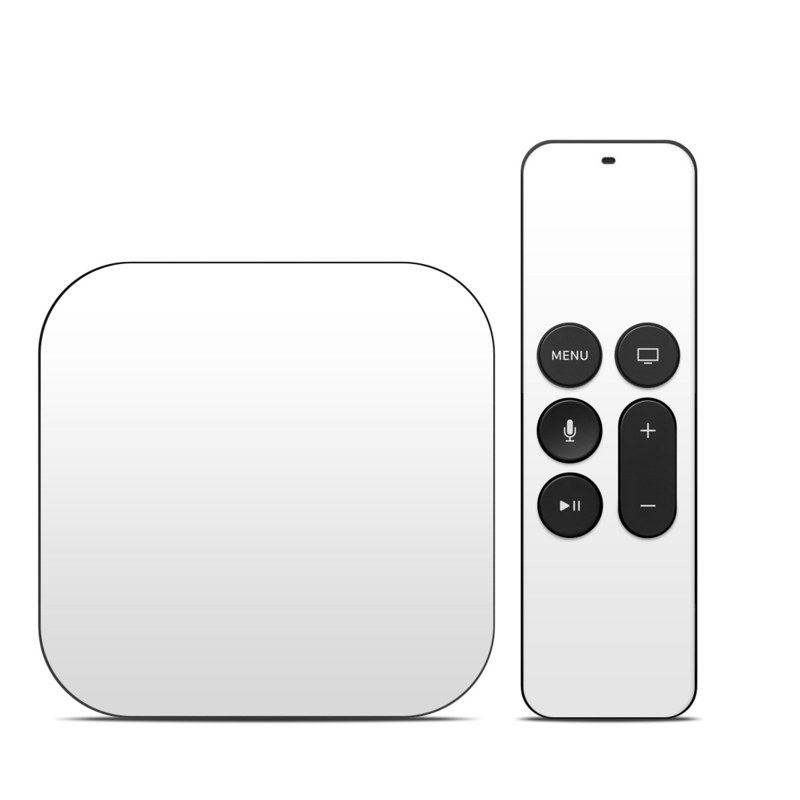 Solid State White Apple TV 4th Gen Skin