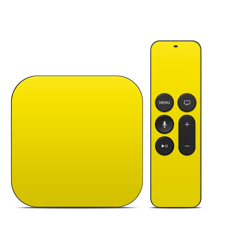 Solid State Yellow Apple TV 4th Gen Skin