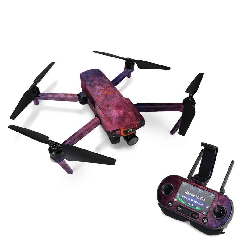 Autel EVO Skin design of Purple, Sky, Red, Violet, Pink, Pattern, Design, Triangle, Line, Magenta with black, red, purple, pink, white colors