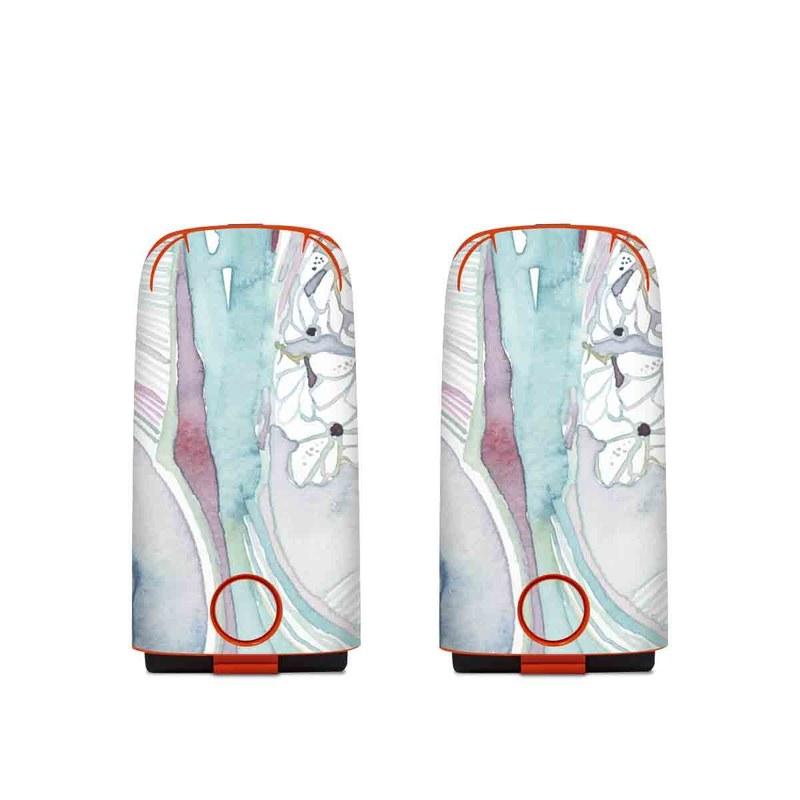 Autel EVO Battery Skin design of Watercolor paint, Plant, Art, Illustration, Flower with blue, purple, pink, red, orange colors