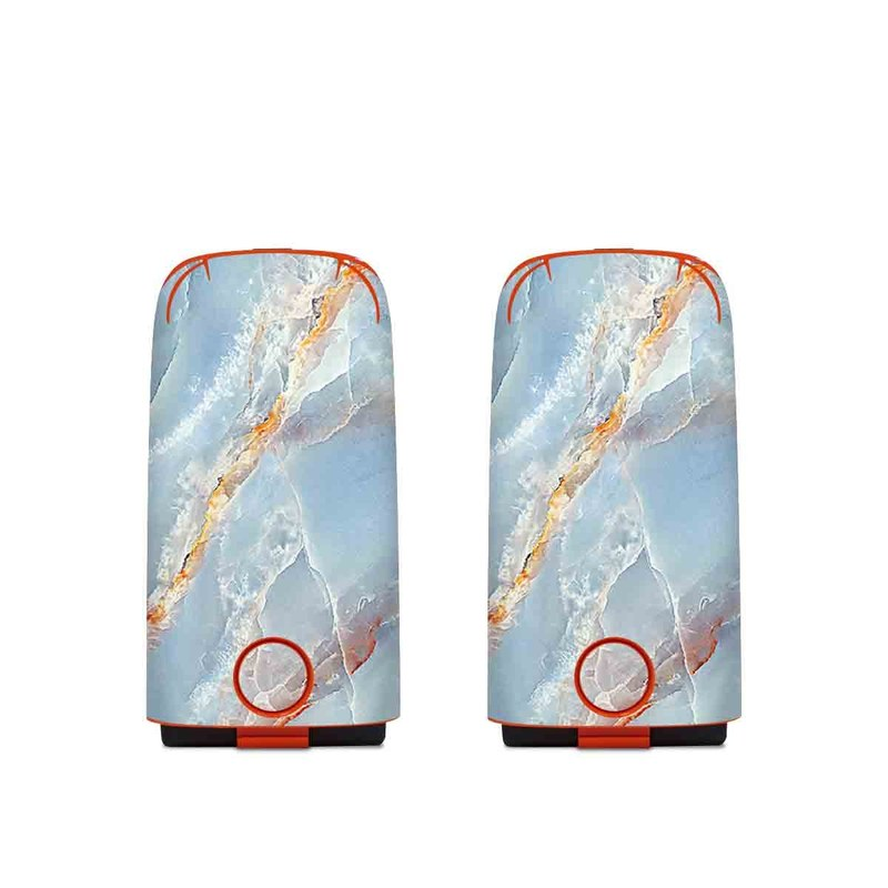 Autel EVO Battery Skin design of Blue, Azure, Aqua, Onyx with blue, red, orange, white colors