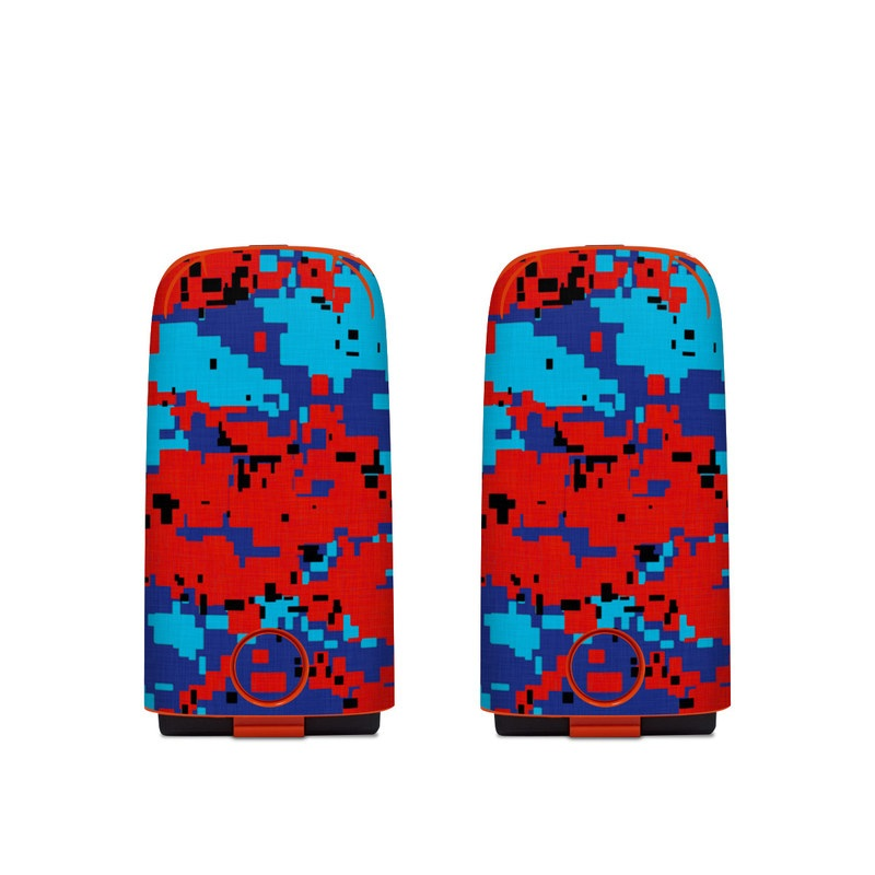 Autel EVO Battery Skin design of Blue, Red, Pattern, Textile, Electric blue with blue, red colors