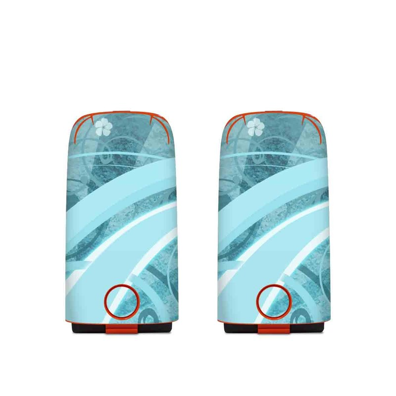 Autel EVO Battery Skin design of Aqua, Blue, Turquoise, Pattern, Teal, Text, Circle, Design, Graphic design, Wallpaper with gray, blue, purple colors
