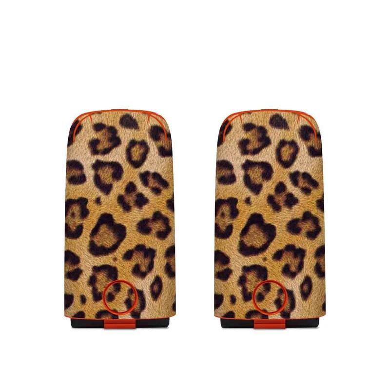 Autel EVO Battery Skin design of Pattern, Felidae, Fur, Brown, Design, Terrestrial animal, Close-up, Big cats, African leopard, Organism with orange, black colors