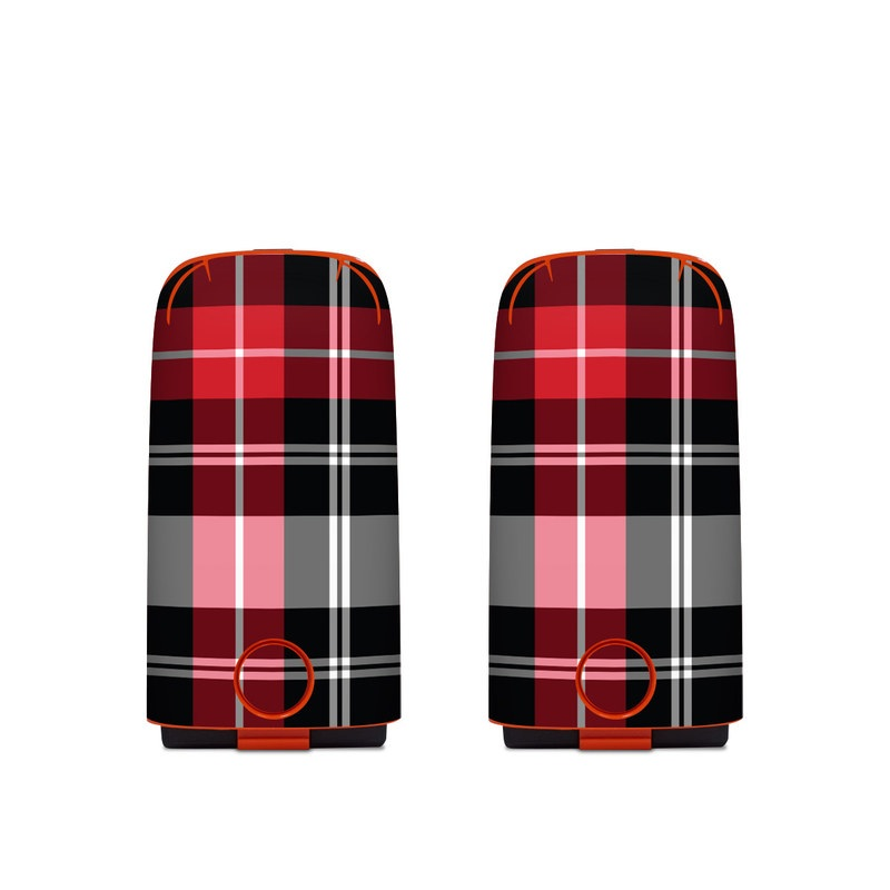 Autel EVO Battery Skin design of Plaid, Tartan, Pattern, Red, Textile, Design, Line, Pink, Magenta, Square with black, gray, pink, red, white colors