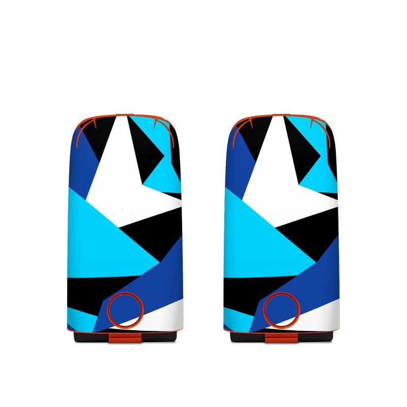 Autel EVO Battery Skin design of Blue, Pattern, Turquoise, Cobalt blue, Teal, Design, Electric blue, Graphic design, Triangle, Font with blue, white, black colors