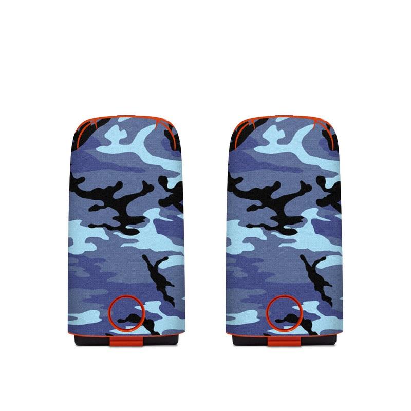 Autel EVO Battery Skin design of Military camouflage, Pattern, Blue, Aqua, Teal, Design, Camouflage, Textile, Uniform with blue, black, gray, purple colors