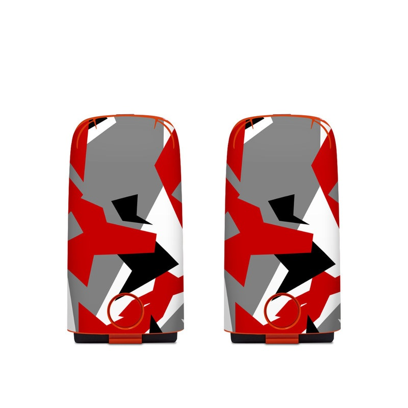 Autel EVO Battery Skin design with red, white, black, gray colors