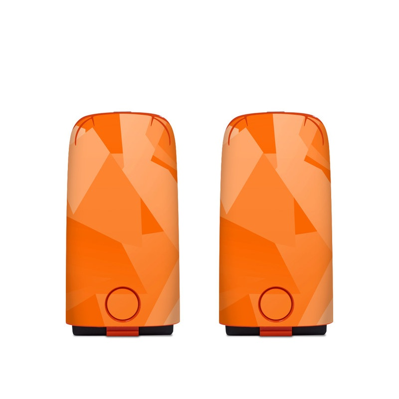 Autel EVO Battery Skin design of Orange, Pattern, Peach, Line, Design, Triangle with orange colors