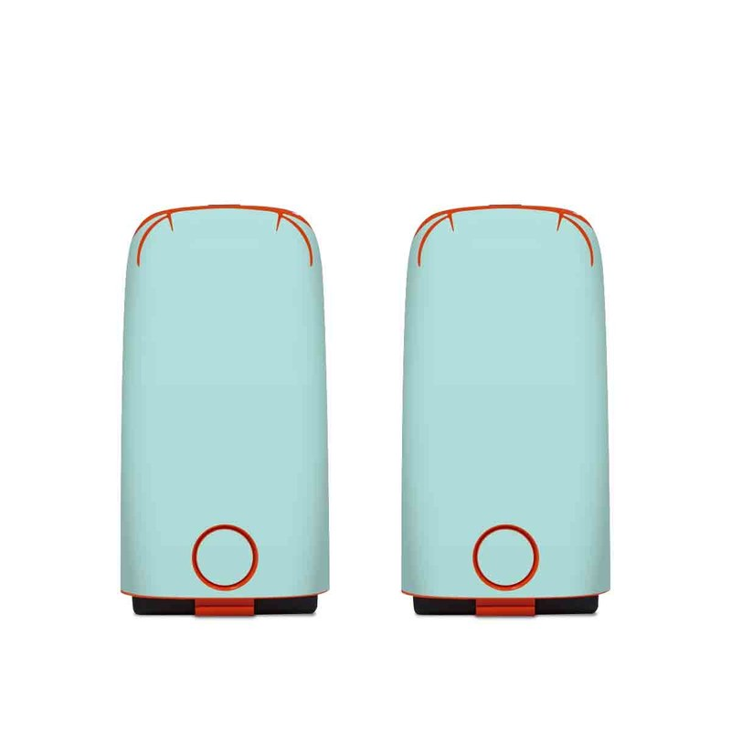 Autel EVO Battery Skin design of Green, Blue, Aqua, Turquoise, Teal, Azure, Text, Daytime, Yellow, Sky with blue colors
