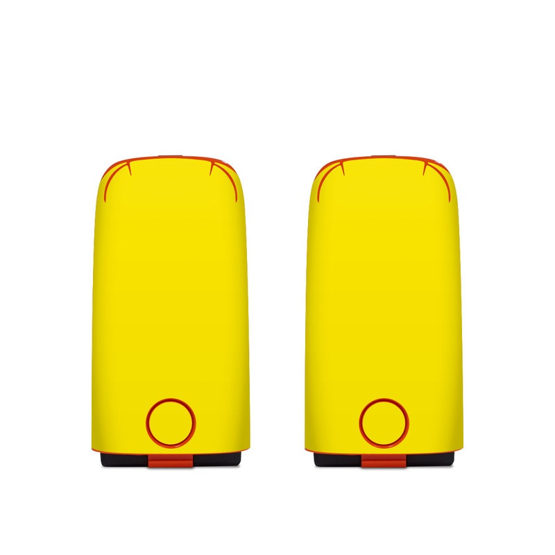 Autel EVO Battery Skin design of Green, Yellow, Orange, Text, Font with yellow colors