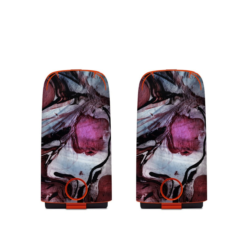 Autel EVO Battery Skin design of Purple, Art, Illustration, Visual arts, Cg artwork, Watercolor paint, Organism, Design, Graphic design, Pattern with blue, red, purple, black, white colors