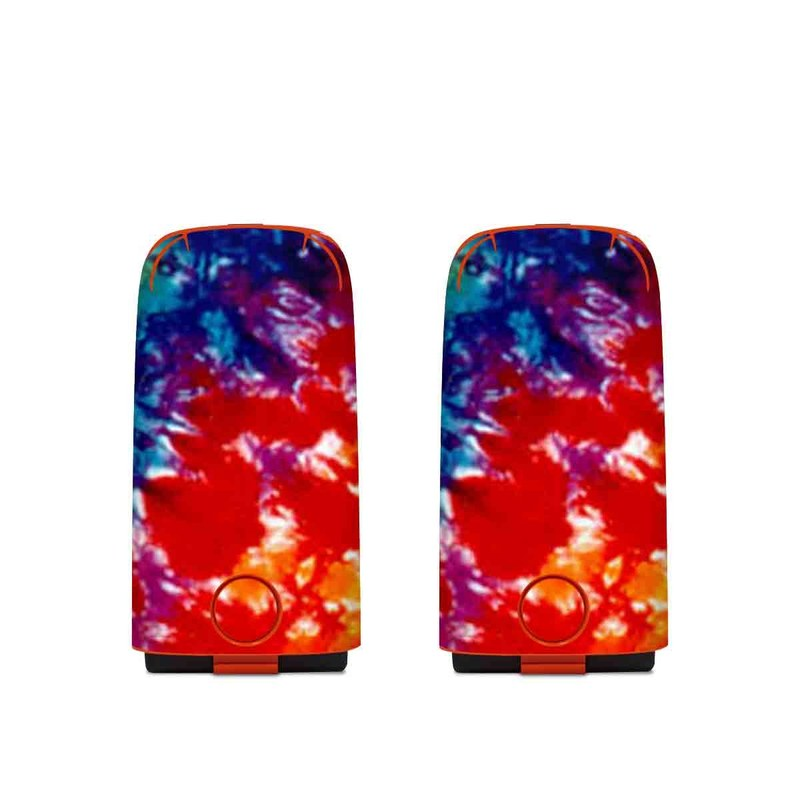 Autel EVO Battery Skin design of Orange, Watercolor paint, Sky, Dye, Acrylic paint, Colorfulness, Geological phenomenon, Art, Painting, Organism with red, orange, blue, green, yellow, purple colors
