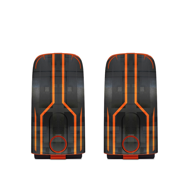 Autel EVO Battery Skin design with black, gray, orange colors