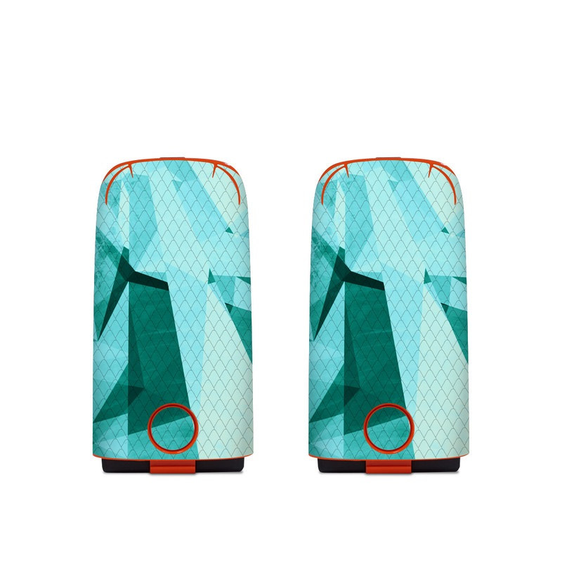 Autel EVO Battery Skin design of Aqua, Blue, Pattern, Turquoise, Illustration, Teal, Design, Line, Graphic design with blue colors