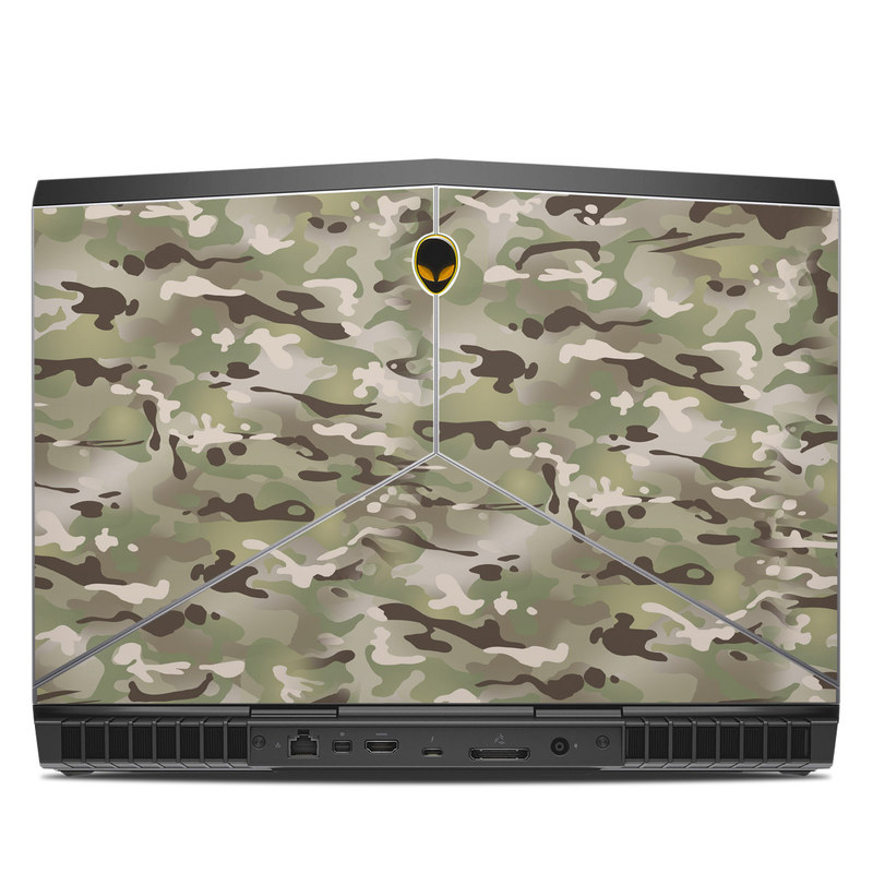 Alienware 15 R3 Skin design of Military camouflage, Camouflage, Pattern, Clothing, Uniform, Design, Military uniform, Bed sheet with gray, green, black, red colors