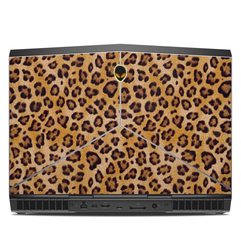 Alienware 15 R3 Skin design of Pattern, Felidae, Fur, Brown, Design, Terrestrial animal, Close-up, Big cats, African leopard, Organism with orange, black colors