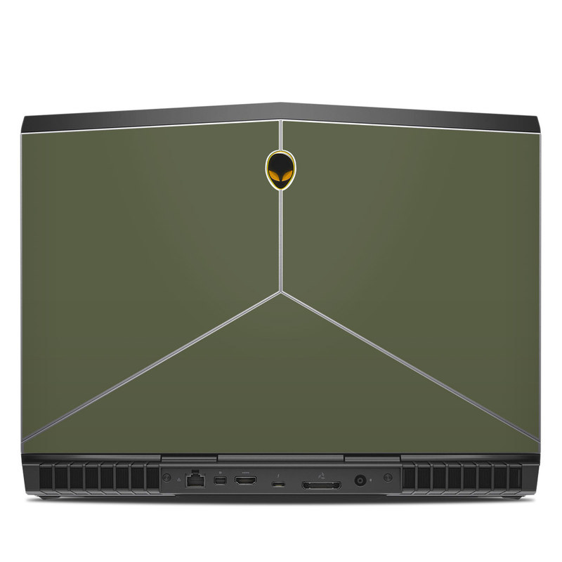Alienware 15 R3 Skin design of Green, Brown, Text, Yellow, Grass, Font, Pattern, Beige with green colors