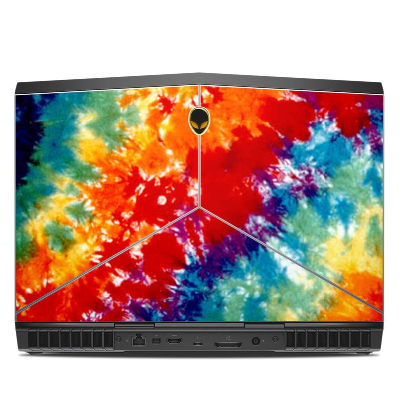 Alienware 15 R3 Skin design of Orange, Watercolor paint, Sky, Dye, Acrylic paint, Colorfulness, Geological phenomenon, Art, Painting, Organism with red, orange, blue, green, yellow, purple colors