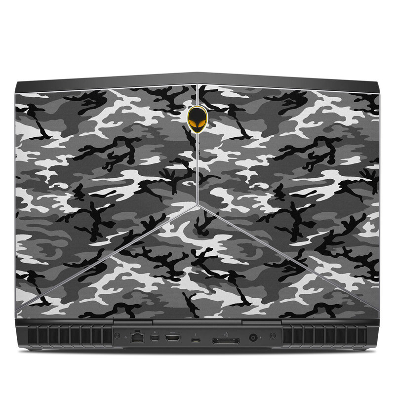 Alienware 15 R3 Skin design of Military camouflage, Pattern, Clothing, Camouflage, Uniform, Design, Textile with black, gray colors