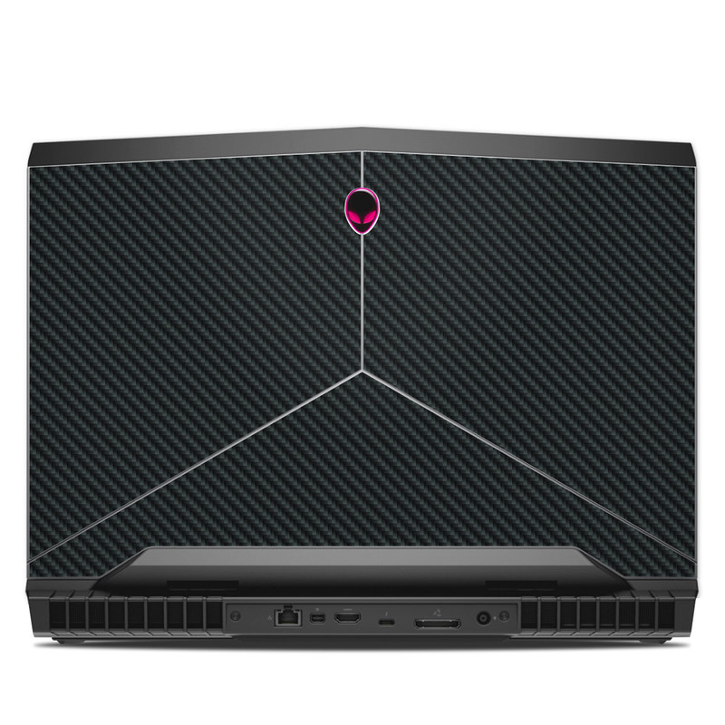 Alienware 17 R4 Skin design of Green, Black, Blue, Pattern, Turquoise, Carbon, Textile, Metal, Mesh, Woven fabric with black colors