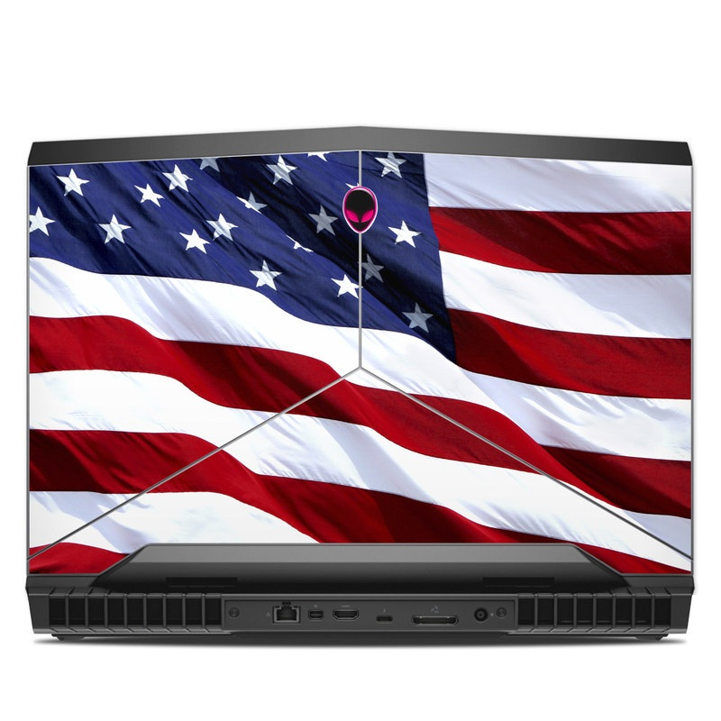 Alienware 17 R4 Skin design of Flag, Flag of the united states, Flag Day (USA), Veterans day, Memorial day, Holiday, Independence day, Event with red, blue, white colors
