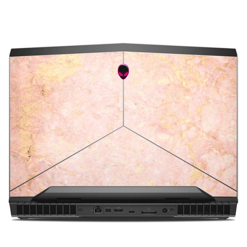 Rose Gold Marble Alienware 17 R4 Skin