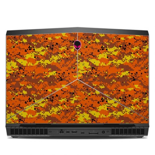 Digital Orange Camo Alienware 17 R5 Skin